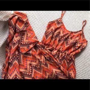 Chevron Pattern Maxi Dress